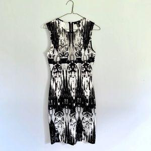 H&M Black and White Bodycon Dress